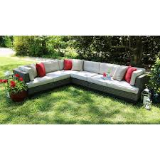 Outdoor Cushions Sunbrella Home Depot by Ae Outdoor Camilla 4 Piece All Weather Wicker Patio Sectional With