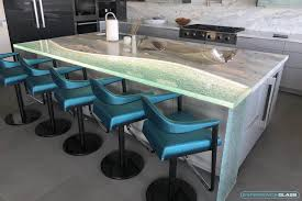 104 Glass Kitchen Counter Tops Custom Made Thick And Bathroom Solid Tops