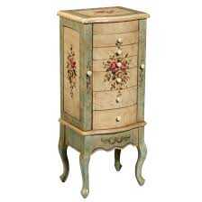Floral Painted Jewelry Armoire Design | Jewelry Armoires ... Jewelry Armoires Bedroom Fniture The Home Depot Armoire Mirror Modern Style Belham Living Hollywood Mirrored Locking Wallmount Mele Co Chelsea Wooden Dark Walnut Amazoncom Powell Classic Cherry Kitchen Ding Natalie Silver Top Black Options Reviews World Southern Enterprises Mahogany