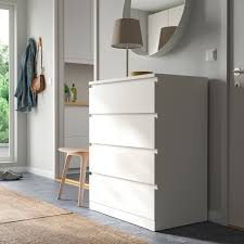 malm chest of 4 drawers white 80x100 cm
