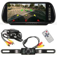 100 Backup Camera For Truck 7 Rear View Mirror Monitor Wireless 7 IR