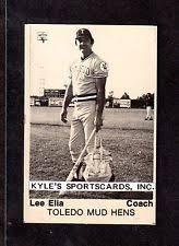 1975 TCMA Lee Elia TOLEDO MUD HENS UNSIGNED 2 1 X 3