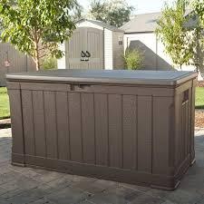 Suncast 195 Gallon Deck Box Manual by Lifetime Plastic Storage Bench U0026 Reviews Wayfair