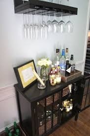 decorations chic black liquor wine cabinet made of wood on