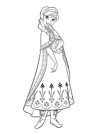 Finest Download Coloring Pages Anna With Frozen