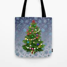Christmas Tree Snow V2 Tote Bag