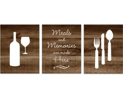 Rustic Kitchen CANVAS Or PRINTS Fork And Spoon Wall Decor Wine Glass Art