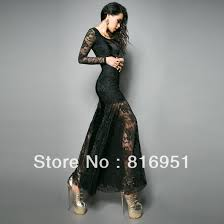 black long sleeve full length dress and make your life special