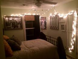 Hanging String Lights In Small Rustic Bedroom Spaces Ideas