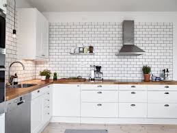 Groutless Subway Tile Backsplash by Tiles Backsplash Best White Tile Kitchen Ideas Only Natural