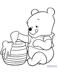 Baby Winnie The Pooh Characters Coloring Pages Kids