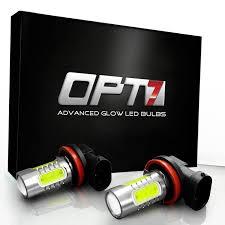 opt7 show glow 9005 led fog light bulbs plasma cob