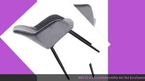 test woltu 4 x esszimmerstühle 4er set esszimmerstuhl küchenstuhl polsterstuhl design stuh