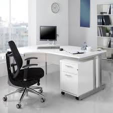 furniture simple white office computer desk furniture with black