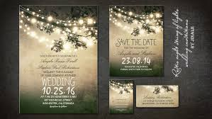 Stunning Love Tree String Lights Romantic Rustic Wedding Invitation Twinkle Invitations
