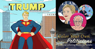 Color Your Own Politicians Political Coloring Books For Adults
