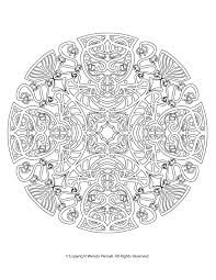Vintage Art Nouveau Mandala Coloring Page For Adults And Patient Kids