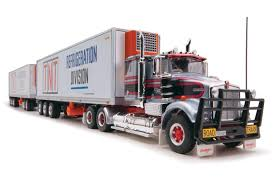 100 Diecast Truck Models Highway Replicas Freight Road Train TNT Refrigeration Division
