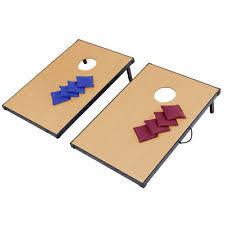 Foldable Wooden Bean Bag Toss Cornhole Game Set Boards Tailgate Regulation Baggo