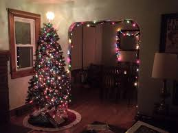 lights white or colored decorations pip the knot