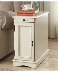 holiday savings on chairside table in white finish coaster 900627