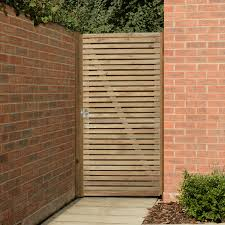100 Contemporary Gate Forest Garden Double Slatted