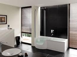 Half Bath Theme Ideas by Minimalist Nathroom With White Tub Surrounding At Brown Ceramic