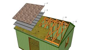 Slant Roof Shed Plans Free by Large Shed Roof Plans Myoutdoorplans Free Woodworking Plans