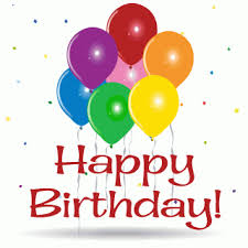 Happy Birthday balloons GIF animation