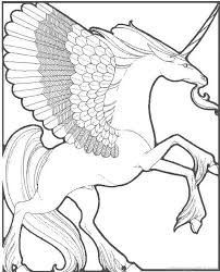 Detailed Unicorn Coloring Pages