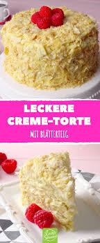 vanillecreme torte mit blätterteig lecker leckere torten