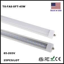 stock in us t8 led 8ft single pin fa8 base fluorescent l