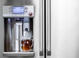GE Refrigerator With Keurig Coffeemaker