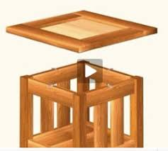 end table with tile top woodworking plans and information at