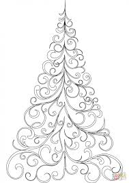 Swirly Christmas Tree Coloring Page Printable Pages Click The Pictures Of Trees Changing Colors To Color
