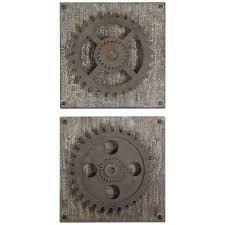 Amazon Uttermost 13828 Rustic Gears Wall Art Set Of 2 Prints