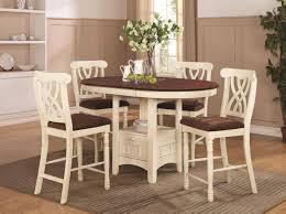 Addison White And Cherry Wood Pub Table Set