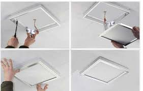 ceiling light installation for decoration iled flat ceilling panel