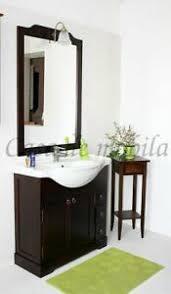 details zu massivholz bad möbel set 4teilig komplett holz braun kolonial badezimmer nußbaum