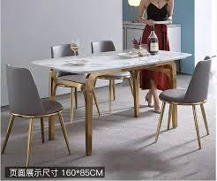 marmor esstisch und stuhl kombination licht luxus haushalt freizeit esstisch kleine wohnung rechteckigen tisch