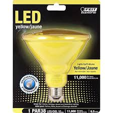 feit led yellow bug par38 flood weatherproof indoor outdoor light