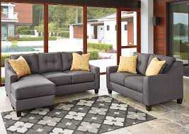 Makonnen Charcoal Sofa Loveseat by Gardner Discount Furniture Gardner Ma Furniture Outlets