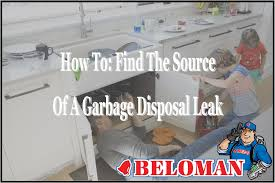how to find the source of a garbage disposal leak beloman