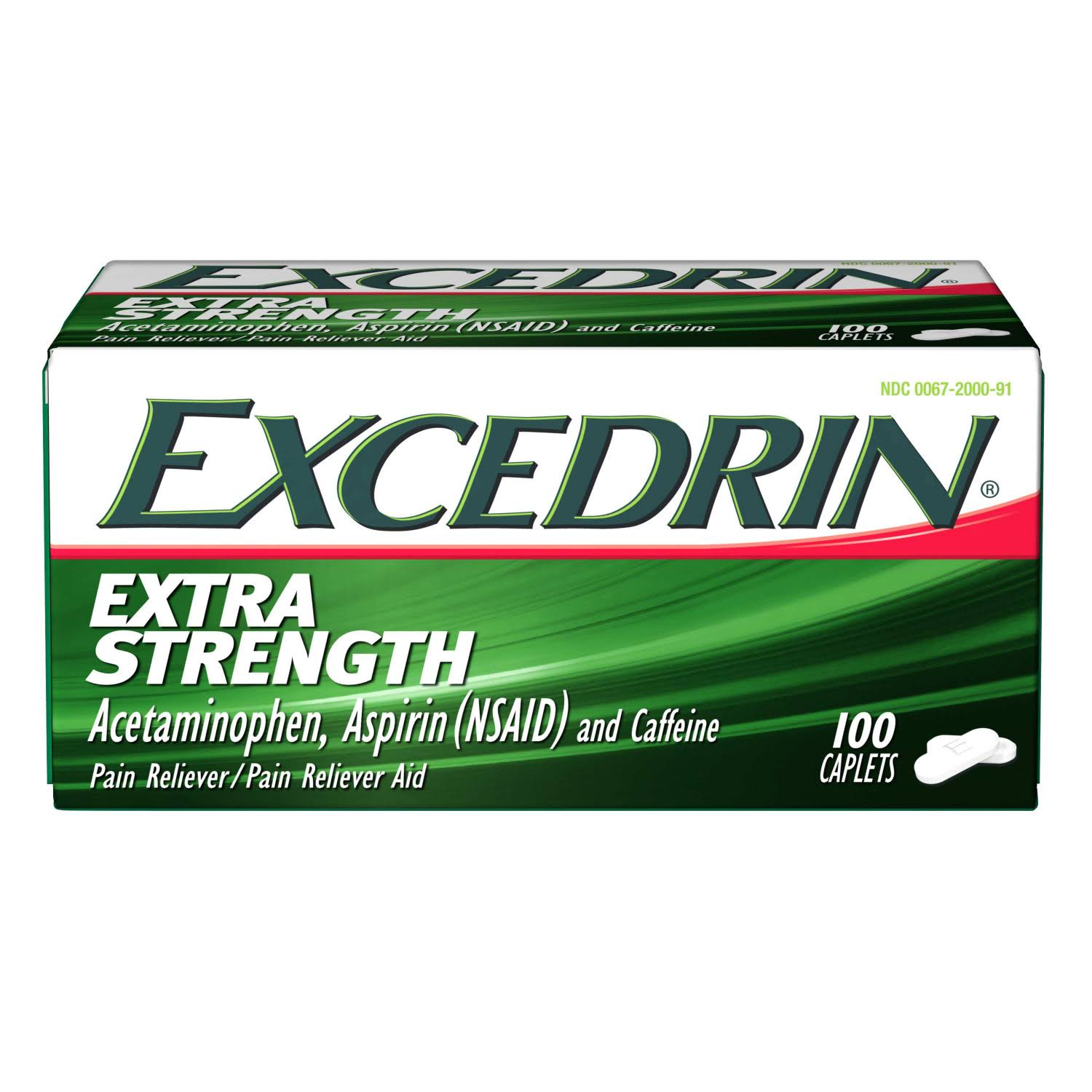 Excedrin Extra Strength Acetaminophen Aspirin Caffeine Pain Reliever - 200ct