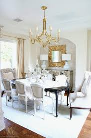 It Is A Transitional Glam Dining Room All Ready For Entertaining Stay Tuned Ill Be Sharing Her Dressed Up With My Favorite Colors Pink And Gold In