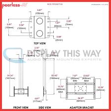 peerless mod fps2kit150 b dual 59 black pole ceiling mount kit