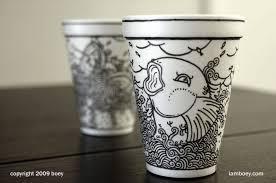 Sharpie Art on Styrofoam Cups