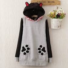 cat hoodies cat hoodies with ears for autumn sweatshirts