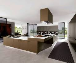 Large Elegant Design Luxury Contemporary Kitchens That Has Cream Modern Floor Can Add The Beauty Inside House With Black Rug Room Spaciouc