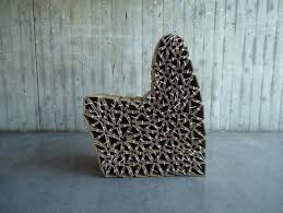 Caterpillar Chair reused cardboard modular chair by Wiktoria